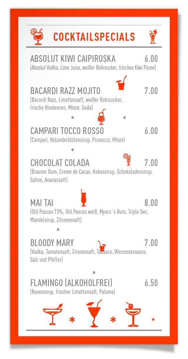 Tapas Bar, Friesenplatz, Cocktailkarte, Caipiroska, Bacardi, Mai Tai, Bloody Mary
