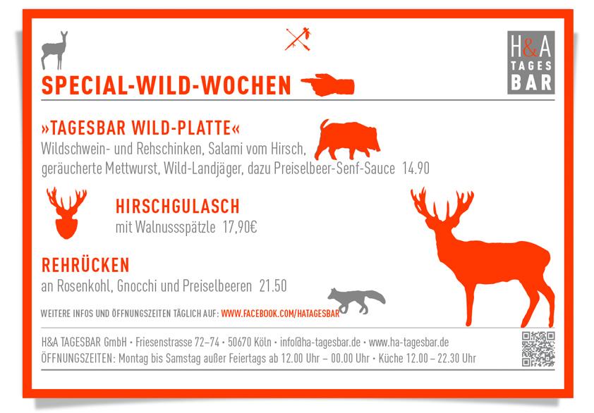 Hirschgulasch, Rehrücken im Restaurant, am Friesenplatz,