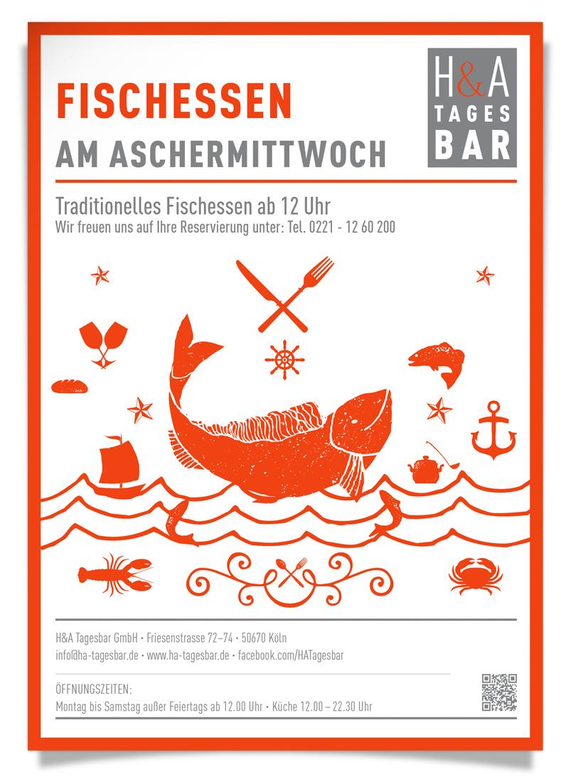 Aschermittwoch in Köln, Karneval 2017, Restaurant am Friesenplatz, Traditionelles Fischessen