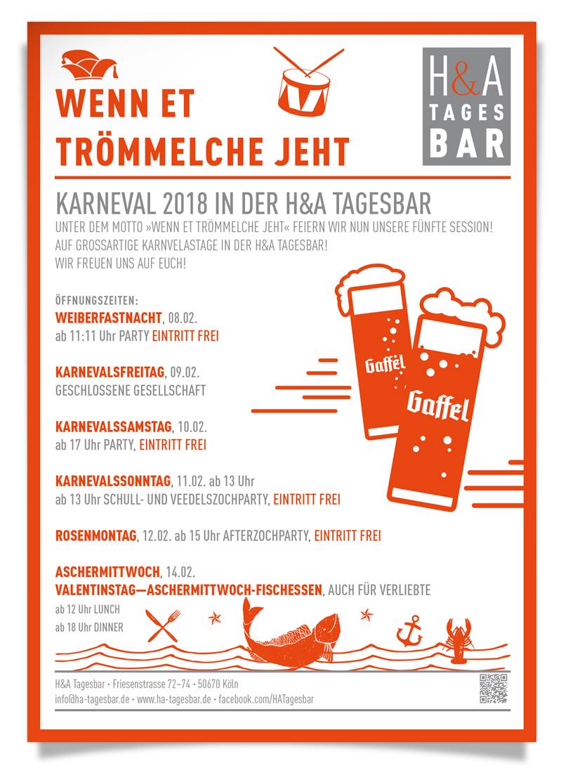 Karnaval am Friesenplatz in Köln, Kölle Alaaf, Tagesbar Party und Feiern, Karneval 2018