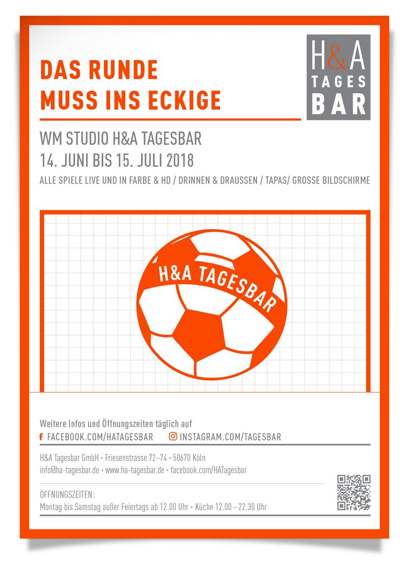 WM 2018 in der Tagesbar, Fussball WM in Russland am Friesenplatz in Köln, Tapas, Cocktails und  Übertragung