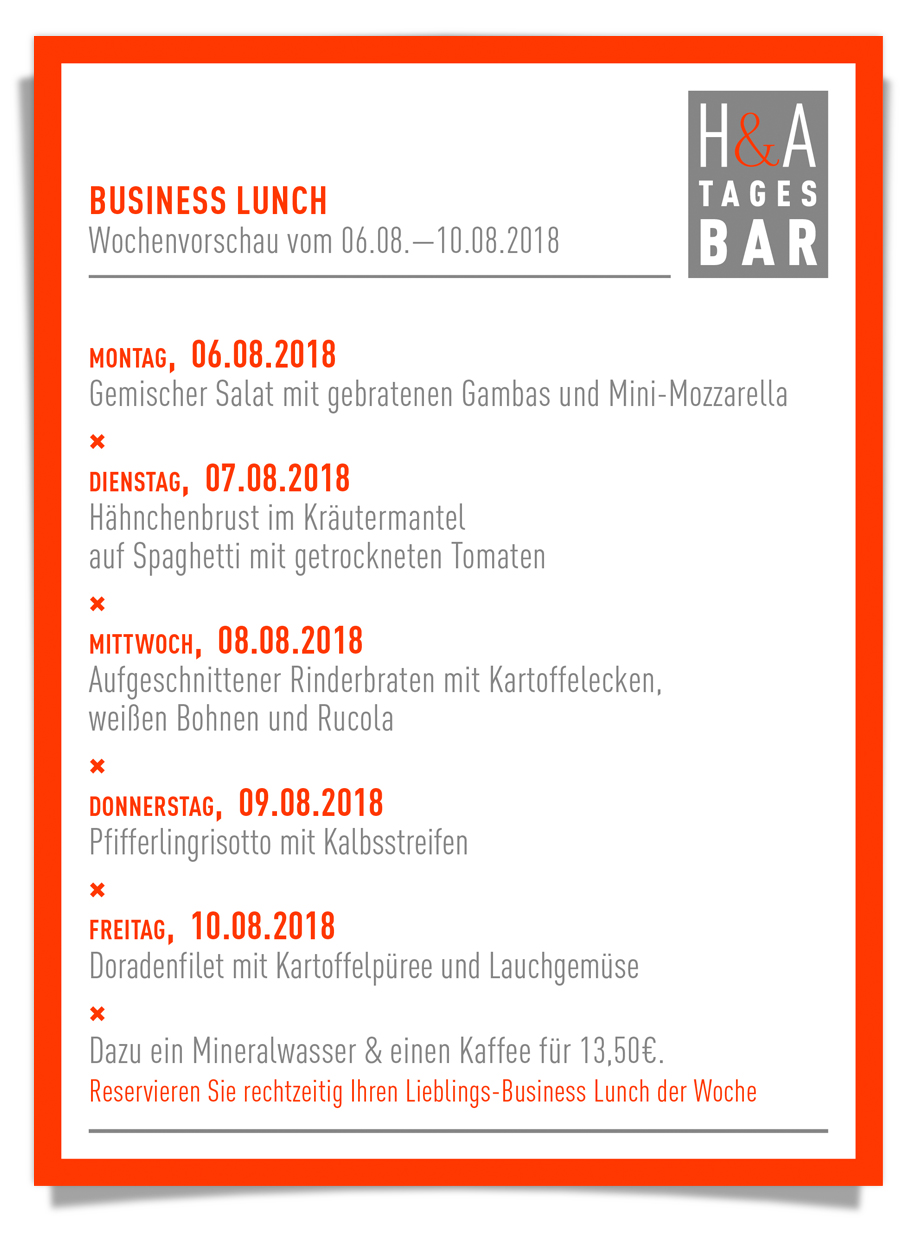 Business Lunch in Köln, Mitagskarte und Restaurant, Tapasbar und Business Lounge