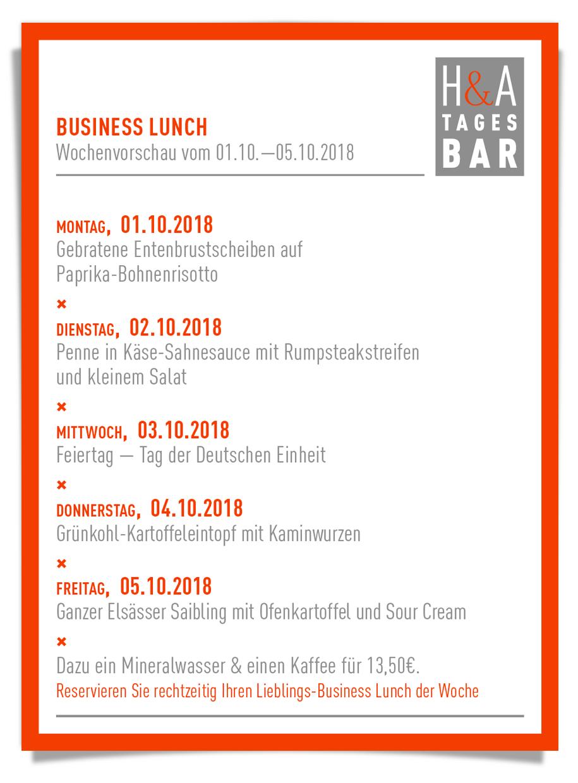 businessLunch, tagesbar und restaurant, cafe, weinbar, mittagskarte und dinner, lunch in Köln