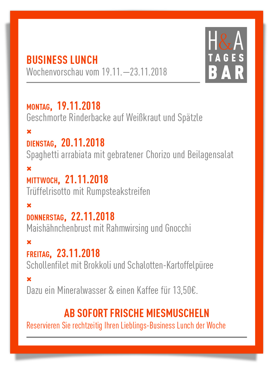 businessLunch, in der tagesbar, restaurant und cafe in köln, weinbar #mittagskarte #dinner #lunch