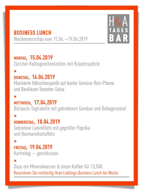 Das Restaurant am Friesenplatz in Köln, Eine Tapasbar oder Tapas Bar und Weinbar im Herzen von Köln, Die Speisekarte mit Mittagskarte, Restaurantkarte