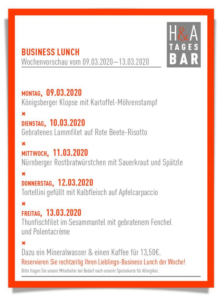 Die Tagesbar in Köln, MIttagskarte und Business Lunch in der TapasBar am Friesenplatz, Friesenstrasse und Mittagskarte