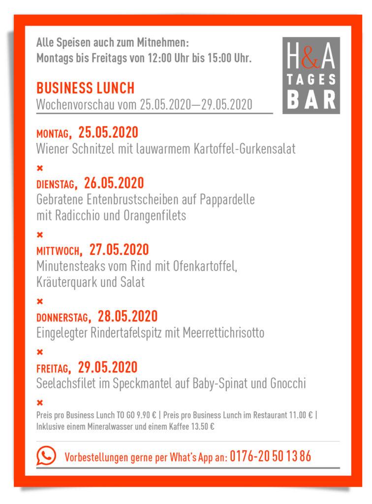 Die Speisekarte für den Business Lunch und die Mittagskarte, im Restaurant in Köln an der Friesenstrasse, Tapasbar