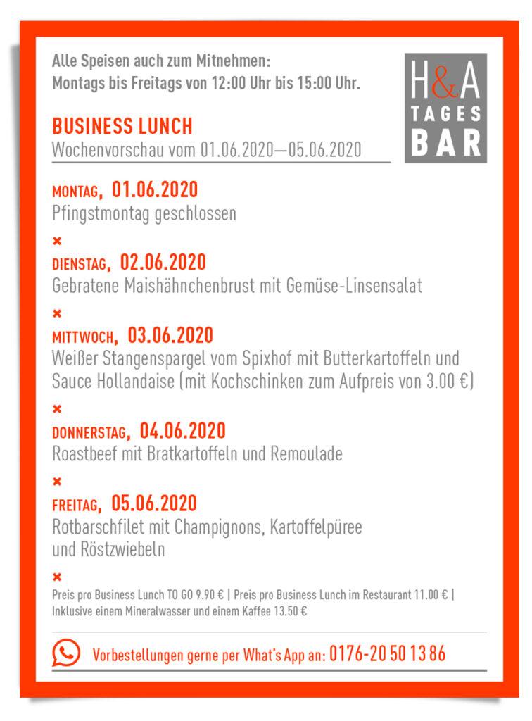 Sommergarten in Köln, Business Lunch und Tagesbar im Heising und Adelmann