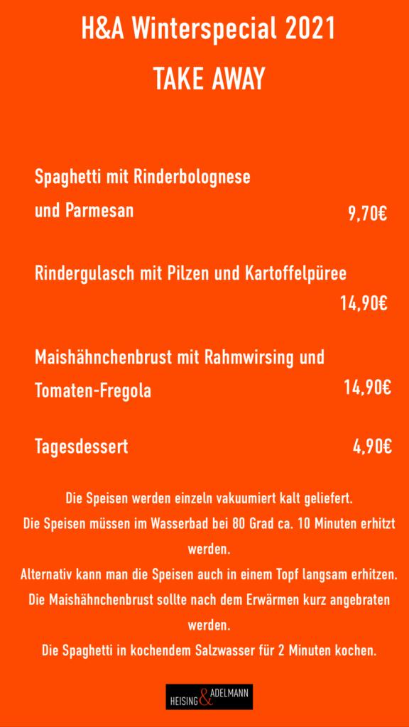 Foodspecial at Tagesbar, Heising und Adelmann in der Tagesbar,
