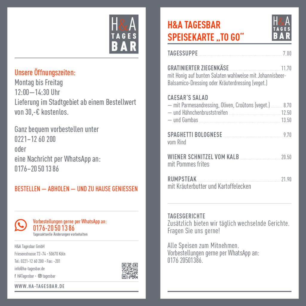 TAKEAWAY Speisen, Essen To Go in köln, am Friesenplatz Restaurant