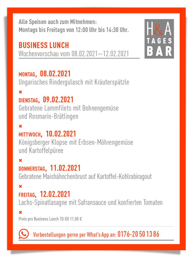 Im Lockdown der Business Lunch und das Mittagessen zun Abholen, Mitagkarte, in Köln