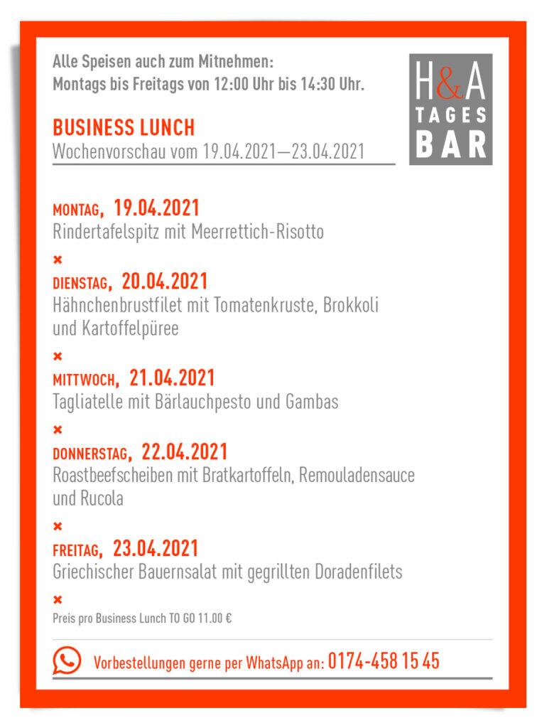 Die Tagesbar in Köln mit dem Essen zum Mitnehmen, Essen to go in Köln, Am friesenplatz Taka away Business Lunch