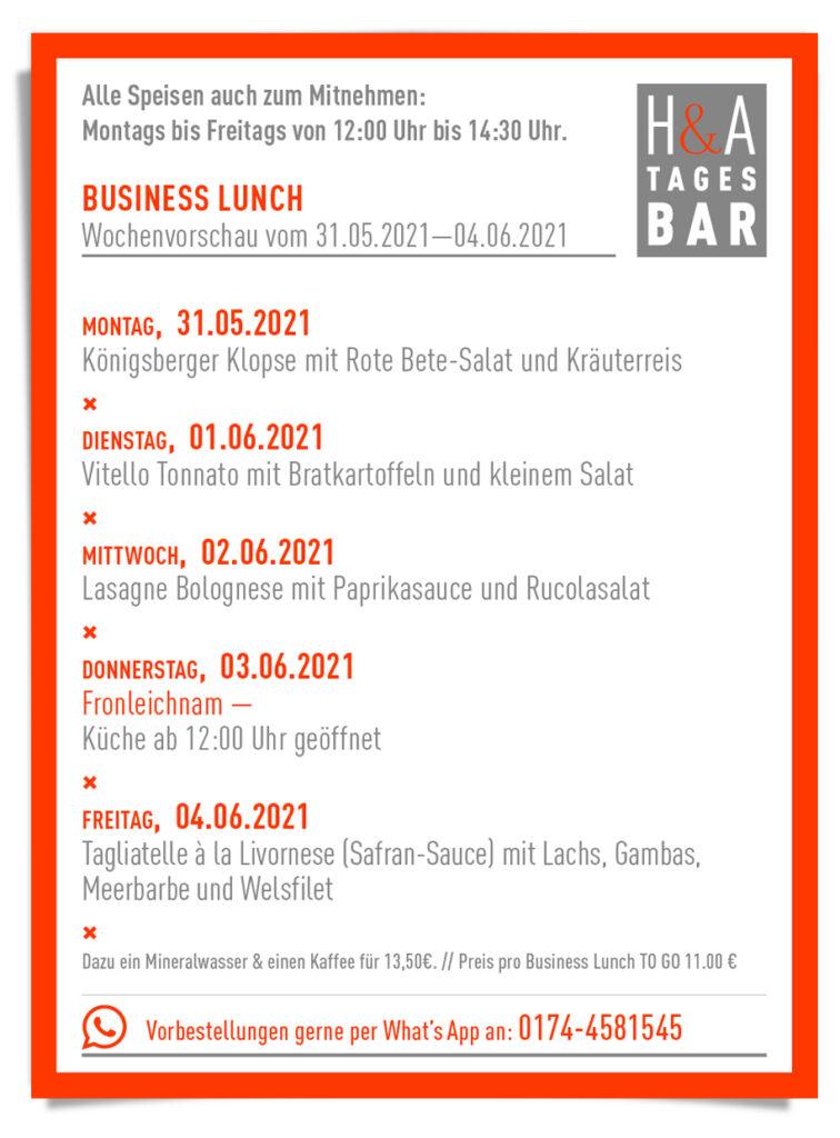 BUsiness Lunch in der Tagesbar, Cologne Food, Klassenerhalt FC Köln, Klasse gericht