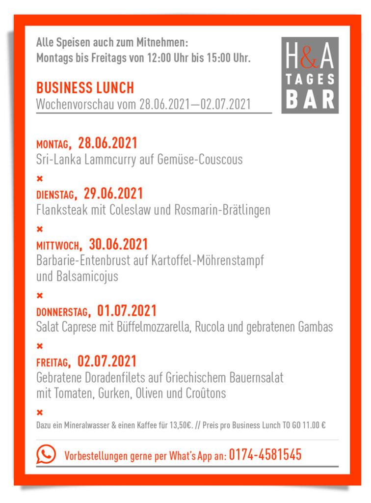 Der Business Lunch in Köln, Lunchtime am Friesenplatz