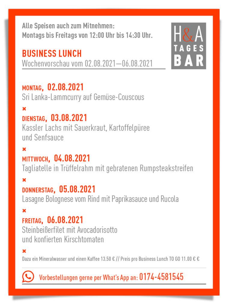 Der Business Lunch in Köln, Die Tagesbar am Friesenplatz, Cologne Food
