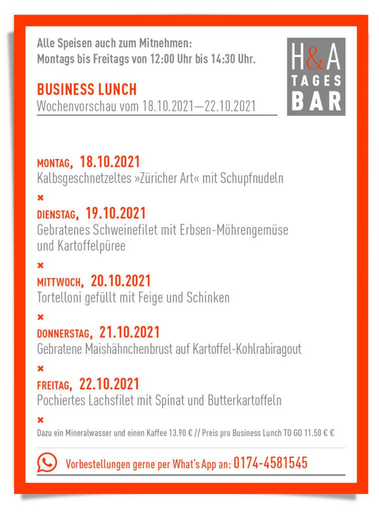 Business lunch in der Tagesbar, am friesenplatz Restaurant, Köln